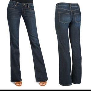 CAbi #749R Zoe Deep Indigo Flare Jeans Size 2